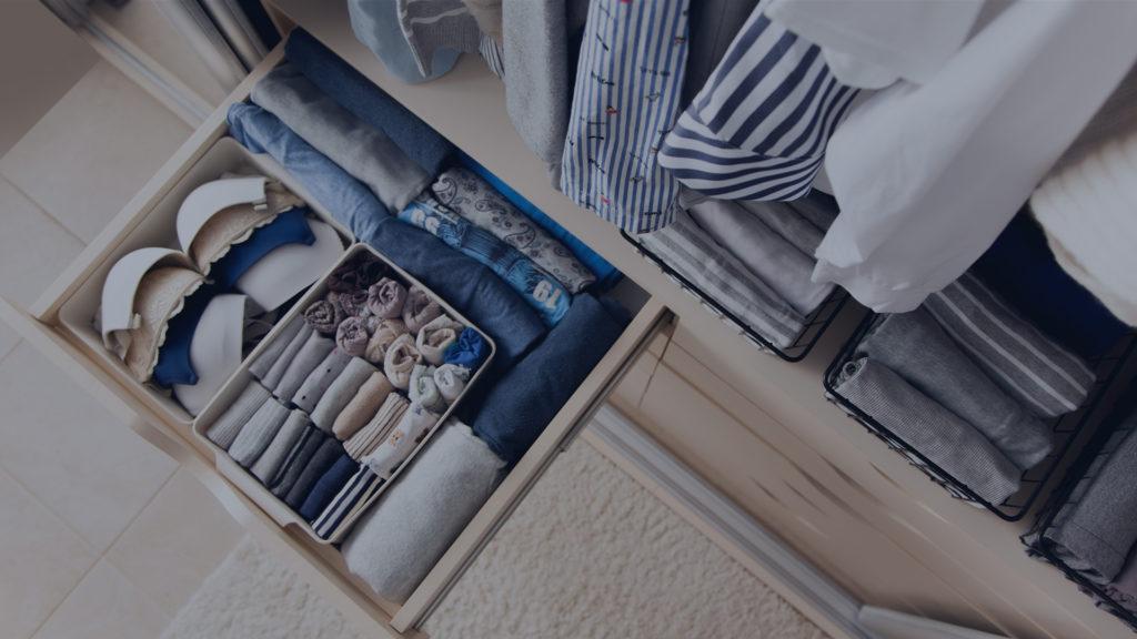 open organized drawer